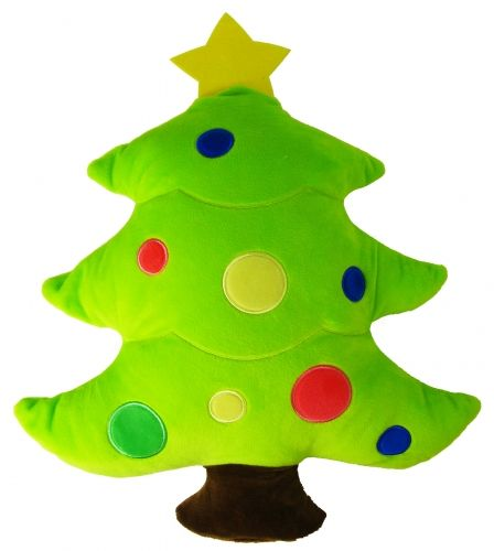 Christmas Tree Icon.Christmas Xmas Tree Icon Emoticon Novelty Stuffed Cushion