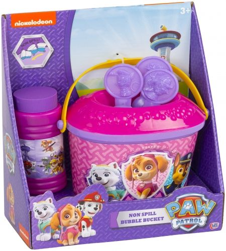 Official Girls Paw Patrol Character Bubble Bucket Playset