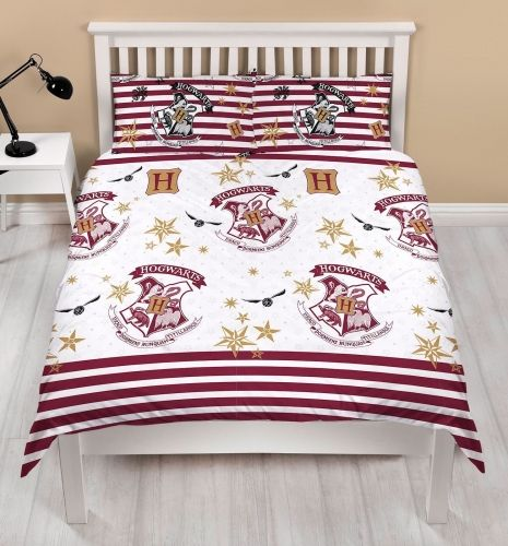 "Official Harry Potter Muggles ""Reversible"" Double Duvet Cover Bedding Set"