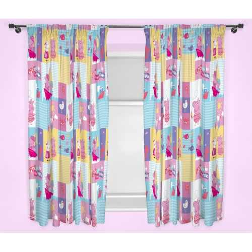 Official Peppa Pig Nautical Curtains 66 X 54