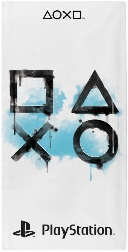 Official Playstation Inkwash Character 100% Cotton Beach Towel